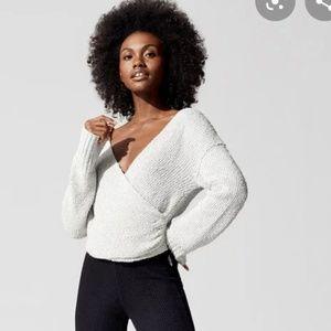 Free People sensual wrap plunge sweater